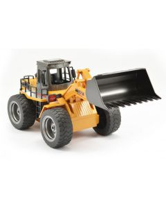 RC Bulldozer Loader with Metal Bucket & Lights - 1/18th Scale 6 Channels