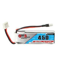 Gaoneng GNB 7.4V 450mAh 2S 80/160C Lipo Battery White Plug