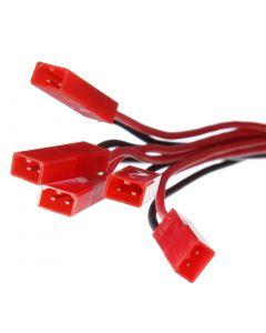 10X 1 To 5 3.7V 1S LiPo Battery Charging Cable JST Plug for V959 V212 V222