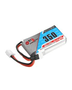 Gaoneng GNB 7.4V 350mAh 2S 80/160C Lipo Battery White Plug for RC Model