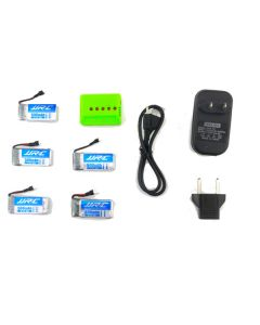 5X JJRC H43WH 3.7V 500MAH 20C Battery Charger Set RC Quadcopter Spare Parts