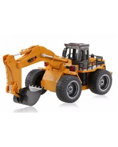 RC Excavator with Metal Bucket & Lights - 1/18th Scale 6 Channels